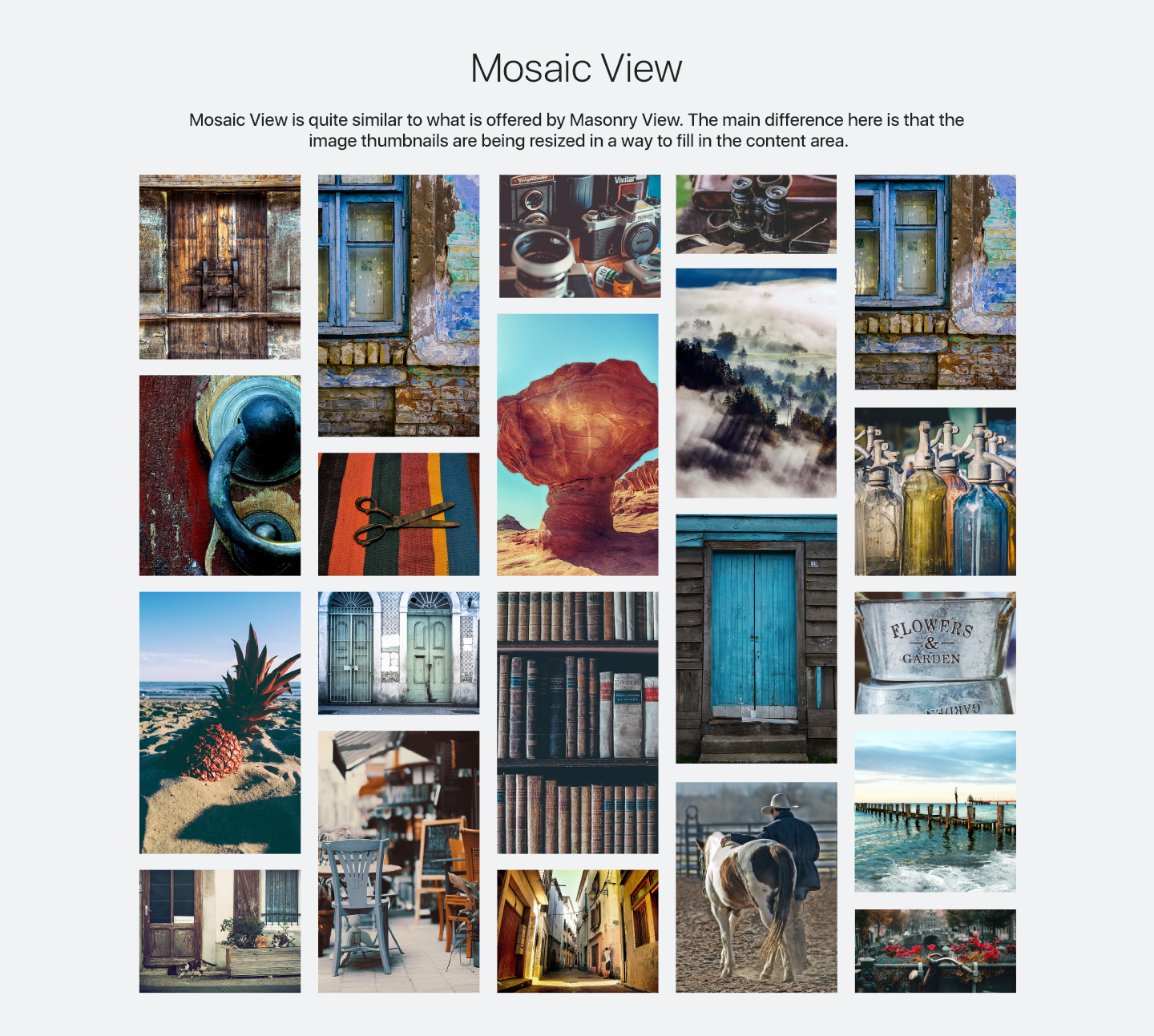 Photo Gallery - Mosaic View